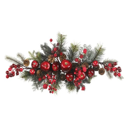 """30"""" Long Apple Berry Swag Wreath By Nearly Natural"""
