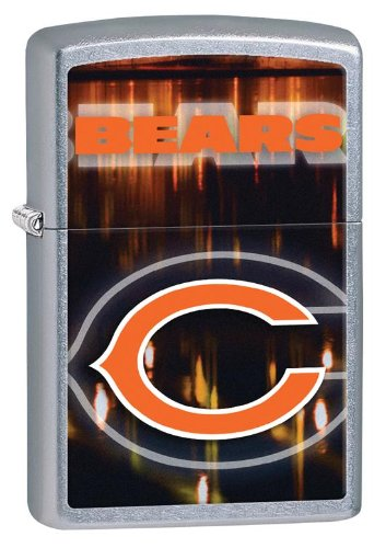 Personalized Zippo Lighter NFL Chicago Bears - Free Laser Engraving (Chicago Bears Lighter compare prices)