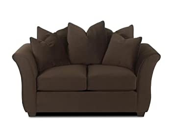 Klaussner VOODOO Loveseat, Chocolate