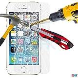 Écran Apple iPhone 5 / 5S verre trempé Crystal Clear LCD Protecteur & Chiffon SVL0 PAR SHUKAN®, (VERRE TREMPÉ)