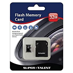 Funny product Super Talent 32GB Micro SDHC Memory Card w/ Adapter, Retail