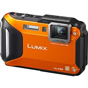 """Panasonic Lumix DMC-FT5EF-D Appareils photo étanches Taille d'écran 3""""  (7,5) Zoom optique 4,6x Orange"""