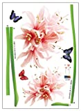 Nursery Easy Apply Wall Sticker Decorations - Giant Flower Sprouts and Butterflies