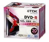 TDK 録画用DVD-R デジタル放送録画対応(CPRM) ホワイトワイドプリンタブル 1-8倍速 5mmスリムケース 20枚パック DR120DPWB20U