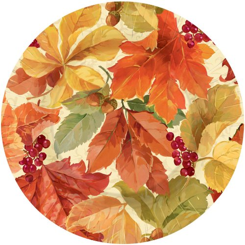 Elegant Leaves Dessert Plates 8ct