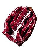 (モポル)moporu メンズ チェック シャツ 柔らかな 風合い カジュアル オシャレ レッド L