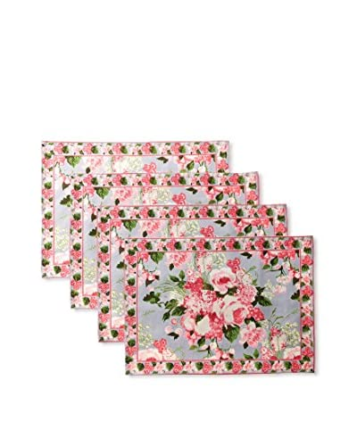 April Cornell Set of 4 Carolynn Placemats, Soft Periwinkle