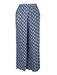 Chicabelle Girls' Palazzo Pants (CH-32A_Navy White_12-14 Years)