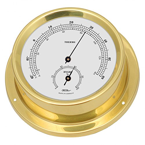 fischer-thermo-hygrometre-marin-laiton-poli-diametre-125-mm