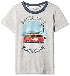 Fox Baby Boys' T-Shirt  (Stone Melange_3-6 months_327584)
