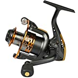 Pisfun Spinning Fishing Reel Metal Spool 6bb for Freshwater Saltwater 500 1000 2000 3000 4000 5000 6000 Series (1000 Series)