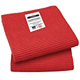 Now Designs Ripple Towel Set of 2, Red