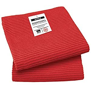 Now Designs Ripple Kitchen Towel Set Of 2 Red By Now Designs Home Kitchen