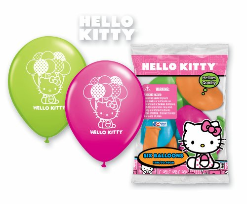 "Hello Kitty Latex 12"" Balloons - Package of 12"
