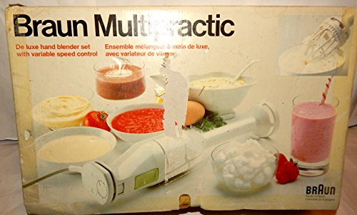 Braun Handblender Deluxe Variable Speed MR72 Complete Kit Made Spain