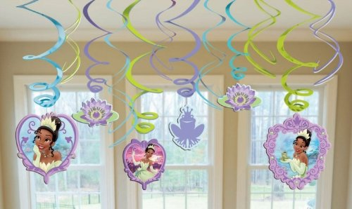 Princess and the Frog Hanging Swirl Decorations (12pc) (Tiana Party Supplies compare prices)
