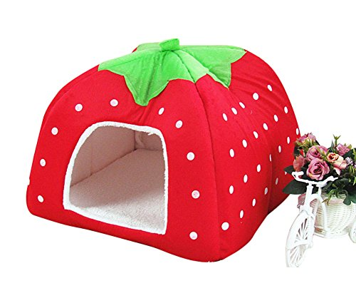 Christmas-Freerun-Cute-Soft-Strawberry-Small-Cotton-Soft-Dog-Cat-Pet-Bed-House