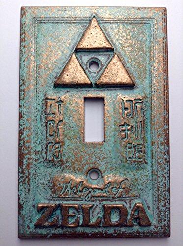 Legend of Zelda Stone/Copper/Patina Light Switch Cover (Custom) (Copper/Patina)