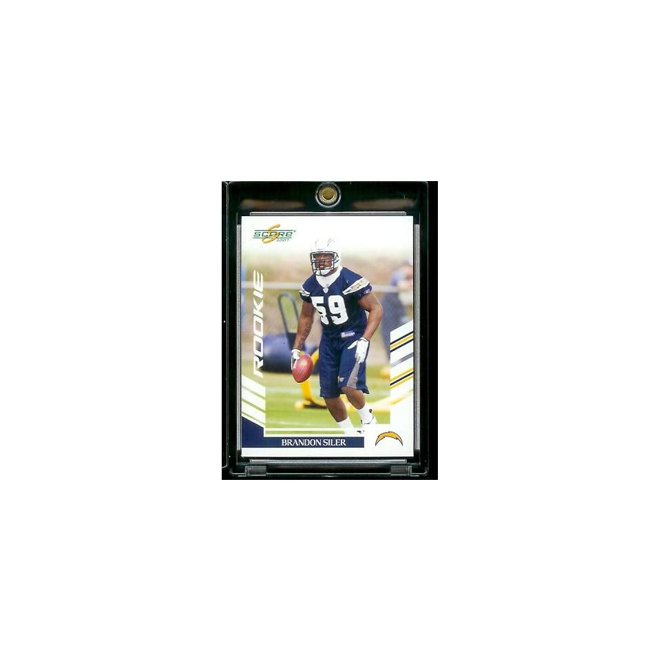 2007 Score # 350 Brandon Siler   San Diego Chargers   NFL