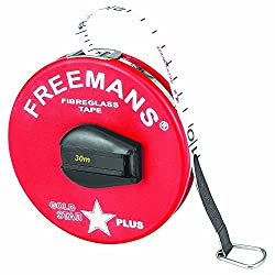 FREEMANS GOLD STAR PLUS - FIBRE GLASS - PLASTIKA - MEASURING TAPE 30 METER