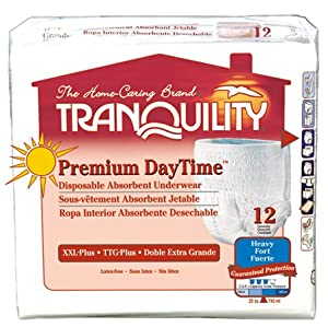 Tranquility Premium DayTime Pull-On Underwear XXL Pack/12 (62-80 in.) by Principle Business Enterprises