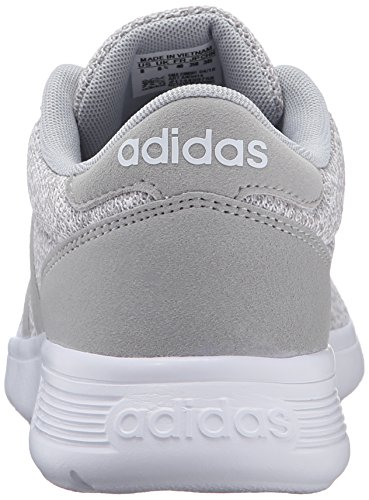Adidas NEO Women's Lite Racer W Running Shoe, Clear Onix/Light Onix/White, 8.5 M US