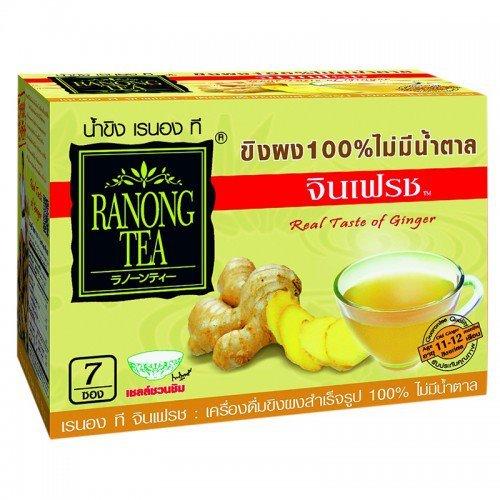 Ranong Tea Ginger Powder no sugar 35 g. 7 sachet (Chocolate Covered Altoids compare prices)