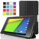 Moko 新Nexus7(2013)超薄型軽量スタンド機能付ケース(黒)(自動ウェイク/スリープ機能)