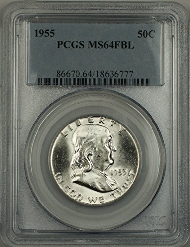 1955 No Mint Mark Franklin Half Dollar Half Dollar PCGS MS-64