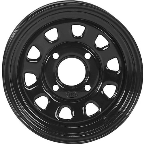 ITP Delta Steel Wheel - 12x7 - 4+3 Offset - 4/137 - Black, Wheel Rim Size: 12x7, Rim Offset: 4+3, Color: Black, Bolt Pattern: 4/137 D12F537