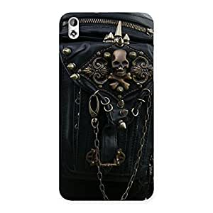 Gorgeous Zip Chain Back Case Cover for HTC Desire 816g