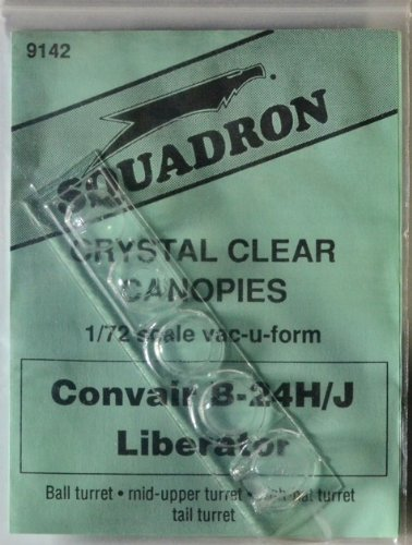 Squadron Products SQ9142 B-24H/J Vacuform Canopy