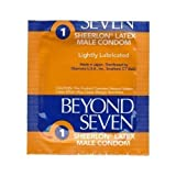 100 Beyond Seven Sheerlon Natural Rubber Latex Condoms, Extra Thin and Sensitive, Lightly Lubricated ~ Beyond Seven