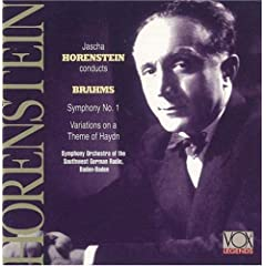 BRAHMS:Symphony No. 1. Variations on St. Anthony Chorale