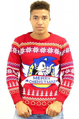 classic-sonic-official-christmas-jumper-sweater-large
