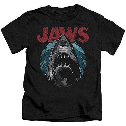 Jaws Spielberg Thriller Movie Cartoon Sketched Shark Attack Little Boys T-Shirt