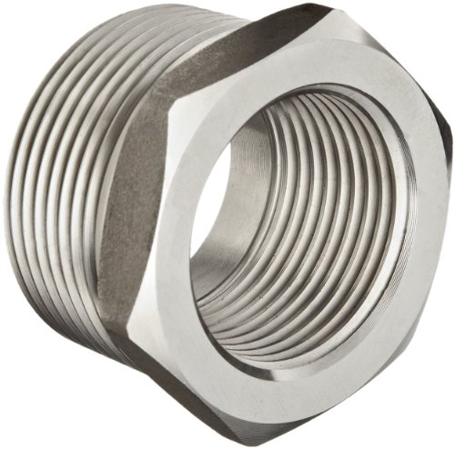 Stainless Steel 304 Pipe Fitting, Hex Head Bushing, Class 1000, 2