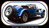Vintage Car Collectible Magnet - 1927 Bugatti Type 38