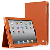 CaseCrown Bold Standby Case (Orange) for iPad 4th Generation with Retina Display, iPad 3 & iPad 2 (Built-in magnet for sleep / wake feature)