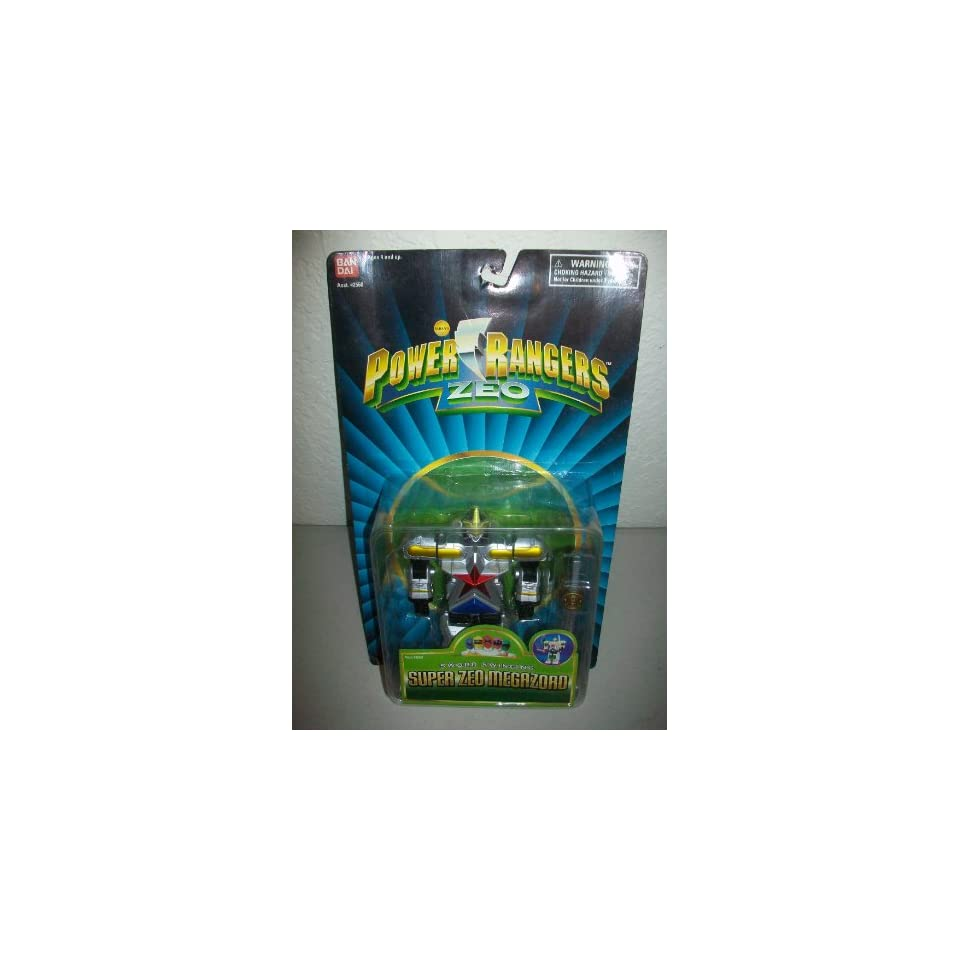 Power Rangers Zeo Bandai 1996 5 Super Zeo Megazord Zord action figure MOSC MOC