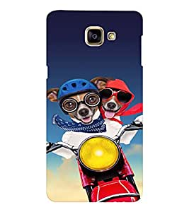 EPICCASE Dog Love in Air Mobile Back Case Cover For Samsung Galaxy A9 (Designer Case)