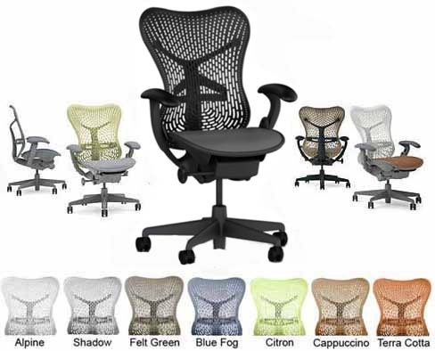 Herman Miller Mirra Office Desk Chair - BASIC Graphite Frame Graphite Backrest