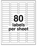 "8,000 DCC® GENERIC White Self Adhesive Return Address Labels 1/2"" x 1.75"" (Avery #5167 size) 80-Up"