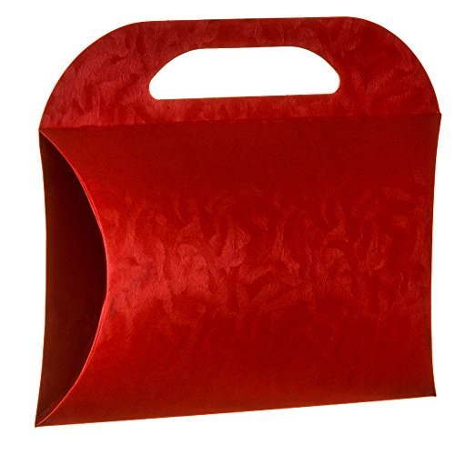 Decorative Boxes (12 Pack) - Premium Italian Stylish Design and Quality (6.68x5.12x1.57 inches, B 170 Red)