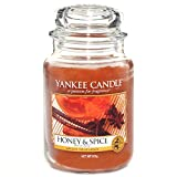 Yankee Candle Large Jar Candle, Honey and Spice