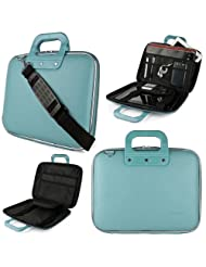SumacLife Universal 14 To 15.6-inch Laptop Blue Cady Collection Briefcase