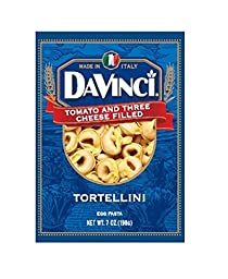 DaVinci Tomato and Three Cheese Filled Tortellini Pasta, 7 Ounce (Pack of 12)