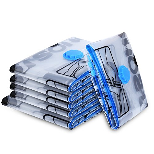 SONGMICS Vacuum Seal Bags Space Saver Storage Bags for Clothes Compressed Vacuum Bags Pack of 6 (Vacuum Bags Seal compare prices)