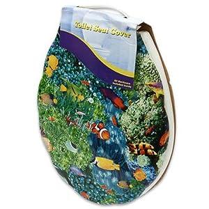 16 39 39 L Assorted Plastic Fish Print Toilet Seat Padded Toilet Seats