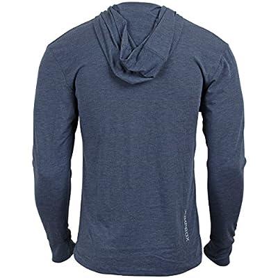 Burpees for Breakfast - Indigo - Men's Long Sleeve Triblend Hoody Shirt